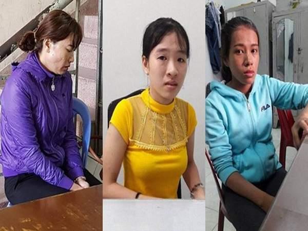 Từ trái sang: Linh, Huỳnh, Đào là 3 bảo mẫu của trường mầm non Mầm Xanh.
