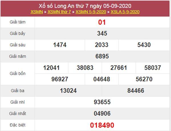 Soi cầu XSLA 12/9/2020 chốt lô số đẹp Long An thứ 7