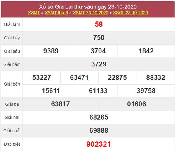 Thống kê XSGL 30/10/2020 chốt lô VIP Gia Lai thứ 6