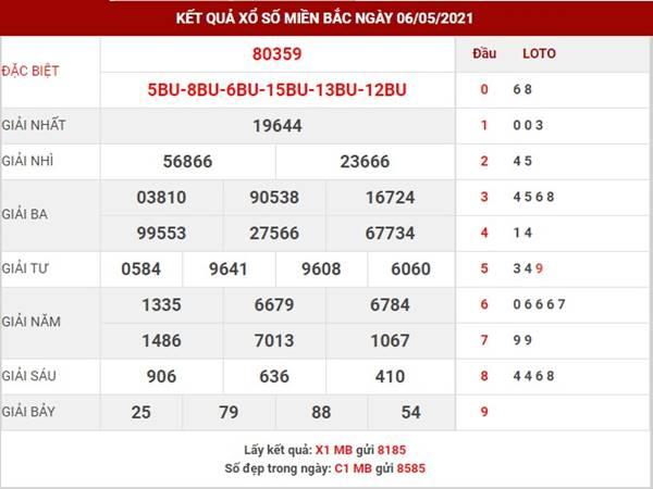 Thống kê kết quả SXMB thu 6 ngày 7/5/2021